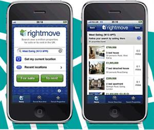 Rightmove's app for the iPhone